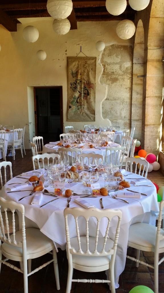 Château de Montplaisant - Tables décorées pour un mariage