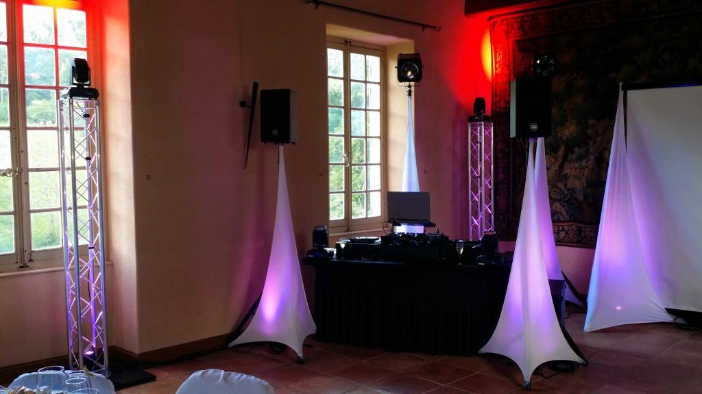 Château de Pramenoux, sonorisation et décoration d'un mariage